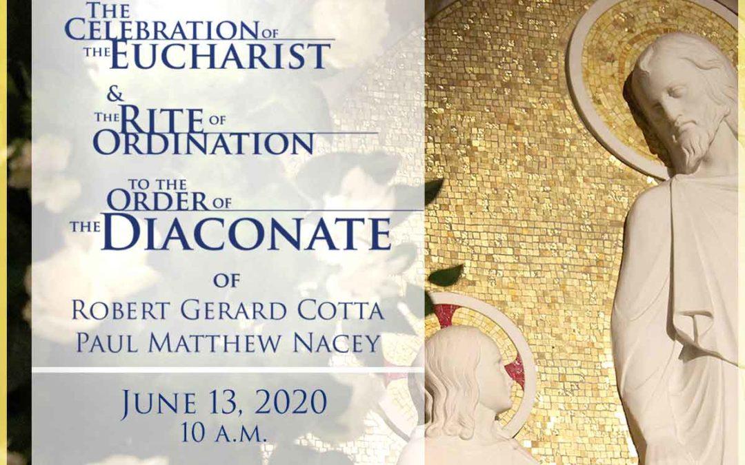 Transitional Diaconate Ordination Livestream